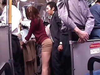 japanese Japanese whore sucks dick in a public bus public video