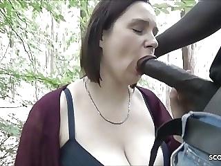bbw Berlin Street Hooker Quick Fuck Outdoor in Park by Big Black interracial video