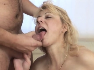 anal Saggy Breasted Blonde Mature Stepmom Anal Fucked blowjob video