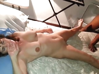 brunette Wife not happy nervous as black cock fucks and creampies her hardcore video