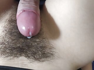 close-up CUM ON HAIRY PUSSY. 4K HOMEMADE pov video